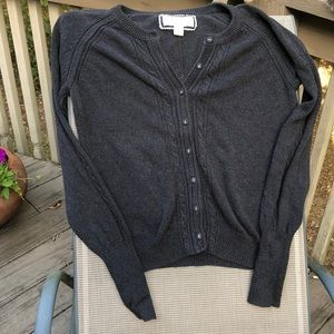 American Eagle Charcoal Grey Cotton Cardigan